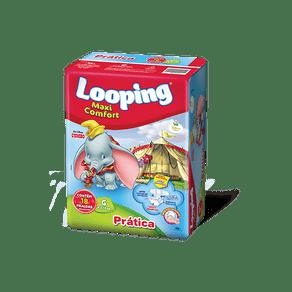 Fralda-Descartavel-Looping-Maxi-Comfort-G-c-18-unidades