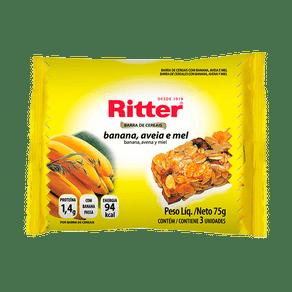 Barra-de-Cereais-Ritter-Banana-Aveia-e-Mel-75g