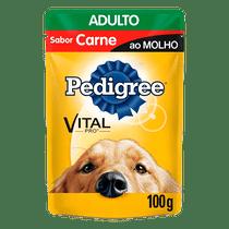 Racao-Pedigree-Adulto-Carne-ao-molho-100g