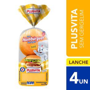 Pão de Hambúrguer sem Gergelim Plusvita 200g