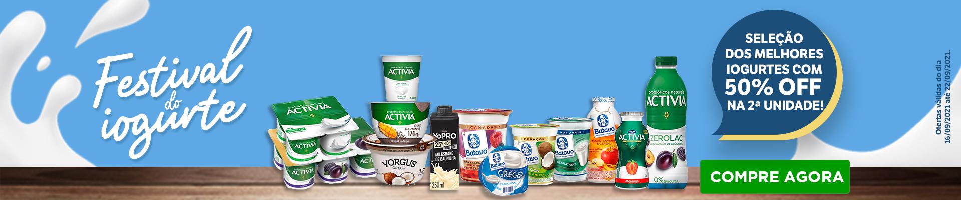 Festival do Iogurte - 16 a 22 set