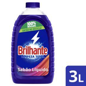 Lava Roupas Líquido Brilhante Limpeza Total 3L